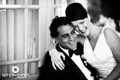 bride and groom share a laugh at their wedding at tankardstown