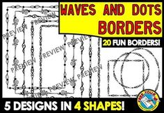 #WAVES AND #DOTS #BORDERS 30% OFF! Are you looking for some ‪#‎borders‬ to enhance your ‪#‎worksheets‬ and other ‪#‎teaching‬ ‪#‎resources‬? Check out this set!  #FRAMES #CLIPART