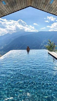 The MiraMonti Boutique Hotel infinity pool. Warm salt water fills the infinity pool that has views of the mountains and overlooks the city of Merano, Italy below. • https://www.hotel-miramonti.com/en/relax/infinity-pool.html • http://www.whitelinehotels.com/hotels/italy/south-tyrol/avelengo/miramonti-boutique-hotel