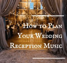 Wedding reception musicis open to the atmosphere you want to create. The cocktail hour, when the guests arrive, has gentle background music. Then the wedding party is introduced with a song, and then a different song introduces the bride and groom. Each event during the reception – cake cutting, garter toss bouquet toss – should ...