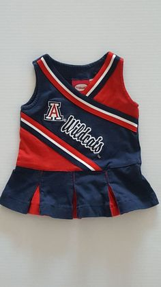 6 month old Baby girl Cheer dress for UofA Wildcats. Well taken care of. No stains, not rips or tears and no odor. Non-smoking household. | eBay!    #ebay #ebaystore #ebayshop #babyclothes #cheerleader #dress #uofa #wildcats #universityofarizona