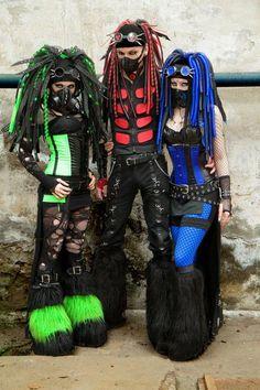 Cyberpunk Clothes, Moda Cyberpunk, Cyberpunk Fashion, Punk Outfits, Grunge Outfits, Lolita Cosplay, Steam Punk, Industrial Goth, Industrial Dance