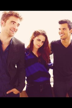 Twlight trio at the LA Press Junket <3