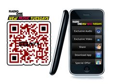 RadioOne mobile website for New Music Tuesdays.