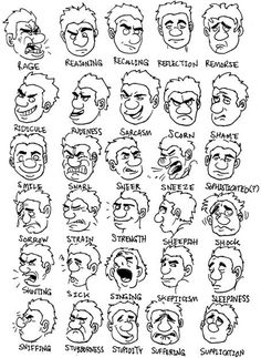 comic book facial expressions - Google Search