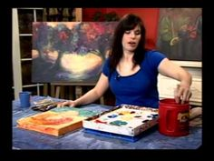 "Karrie on Canvas ""Let Your Hair Down"" --Watch Karrie Evenson paint & inspire u to loosen up when painting. (not the best vid quality, but I find she gives the most tips in this video)"