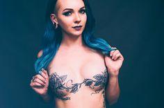 "Stephanie Guttenplan on Instagram: ""@horror_cosmic ✨ You are an inspiration to many, my darling. #mastectomy #mastectomytattoo #survivor #breastcancer #portrait #pookie…"""
