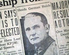 PRESCOTT JOURNAL MINER, Arizona, September 6, 1932. HERMANN GOERING Elected President of GERMAN REICHSTAG