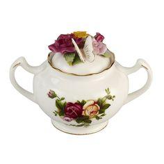 Rose Bouquet Sugar Bowl - Royal Albert