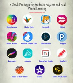 15 Good iPad Apps for Students Projects and Real World Learning Free resource of educational web tools, century skills, tips and tutorials on how teachers and students integrate technology into Ideal Apps for Enhancing Project-based Learn Education Quotes For Teachers, Quotes For Students, Education Logo, Teacher Resources, Ipad Apps, Book Creator, 21st Century Skills, Mobile Learning, Learning Apps