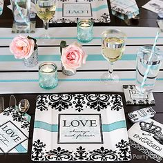 Hopeless Romantic place settings