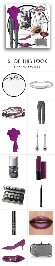 """Purple, plum and grey"" by colonae ❤ liked on Polyvore featuring Lauren Dickinson Clarke, BERRICLE, Chrysalis, Balmain, Etro, Christian Dior, MAC Cosmetics, Lord & Taylor, NARS Cosmetics and Casadei"