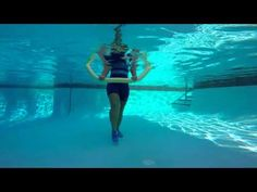 Aqua Fitness Aqua Aerobics exercise with Marietta Mehanni Noodle shallow deep rock and roll - YouTube