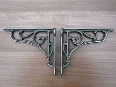 Antique Style Pair of Cast Iron Victorian, Vintage  Shelf  Brackets