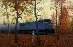 """October"" 2014, oil on canvas, 23 x 35 inches, by Aron Wiesenfeld"
