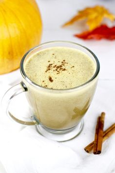 Gut-Healing Pumpkin Spice Latte - Whole30 minus the vanilla extract and without the added powder