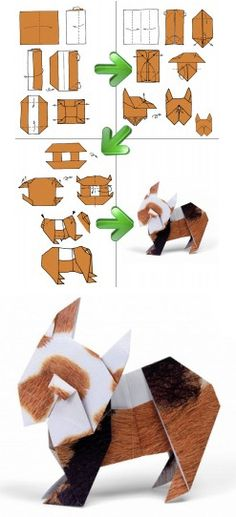 I thought it was a ginny-pig<<<<< I thought it was Percy. Origami And Quilling, Origami And Kirigami, Origami Love, Paper Crafts Origami, Oragami, Origami Art, Diy Paper, Origami Instructions, Origami Tutorial