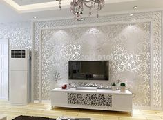 26.82$  Buy here - https://alitems.com/g/1e8d114494b01f4c715516525dc3e8/?i=5&ulp=https%3A%2F%2Fwww.aliexpress.com%2Fitem%2FGold-Silver-Beige-3-Modern-3d-wallpaper-roll-mural-papel-de-parede-floral-Papel-Decorativo-wall%2F32523605870.html - Gold/Silver/Beige 3 Modern 3d wallpaper roll mural papel de parede floral Papel Decorativo wall paper for Living Room 5.3x10M 26.82$