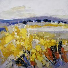 Nacido en Bretaña en 1960, Hervé Lenouvel siempre ha sido un apasionado de la pintura y el dibujo.   Su infancia se desarrolla en el ca... Landscape Artwork, Abstract Landscape Painting, Abstract Canvas Art, Abstract Watercolor, Herve, Abstract Nature, Painting Inspiration, Image, Ideas