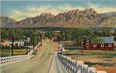 Las Cruces New Mexico NM 1938 Organ Mountains Viaduct Antique Vintage Postcard