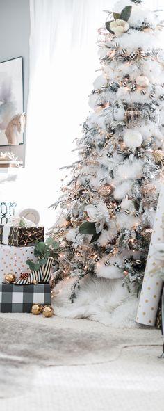 Black, White & Gold Christmas Decorations