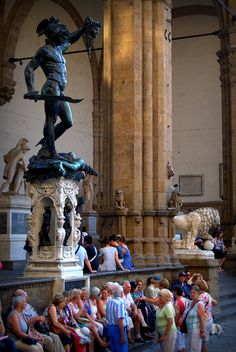 Florence, Italy - {my favourite statue in the Loggia dei Lanzi. Cellini cast his own face into the back of Perseus's head!}