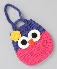 Take a look at this Hot Pink & Blue Owl Pouch Bag on zulily today! Pippytoes