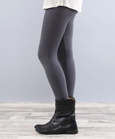 Look at this #zulilyfind! Charcoal Fleece-Lined Leggings #zulilyfinds