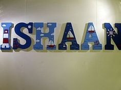 Name Letters painted with nautical theme