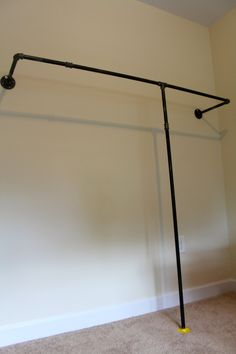 homemade wall mounted clothes rack.