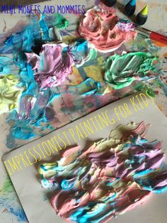 Kids' famous artist art activity using shaving cream! Explore the art of Monet and sensory play with this hands-on project.