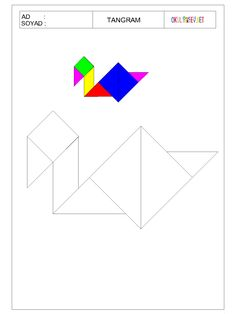 ÇOCUKLAR İÇİN TANGRAM-OKUL ÖNCESİ HERŞEY Preschool Education, Preschool Math, Teaching Math, Kindergarten, Tangram Puzzles, Addition Worksheets, Learning Through Play, Pattern Blocks, Classroom Decor