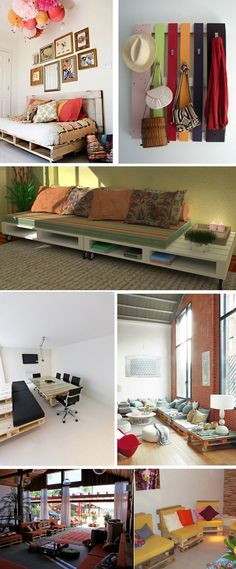 The Best DIY Wood and Pallet Ideas: Muebles hechos con palets