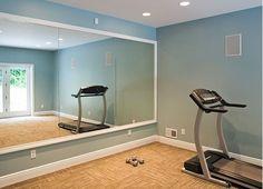 22 Trendy Home Gym Basement Inspiration Wall Colors Home Gym Basement, Gym Room At Home, Home Gym Decor, Basement Ideas, Basement Colors, Rustic Basement, Workout Room Home, Workout Rooms, Exercise Rooms