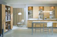 Moderne Küchendesigns - Holz Innenausstattungen