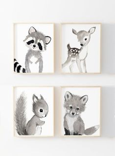 Read our page for more all about this fabulous colorful nursery Woodland Nursery Prints, Woodland Animal Nursery, Forest Nursery, Baby Animal Nursery, Elephant Nursery, Nursery Themes, Nursery Wall Art, Girl Nursery, Nursery Paintings