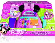 Toy Cash Registers - IMC Minnie Mouse Cash Register ** You can find out more details at the link of the image. Peppa Pig, Minnie Mouse Toys, Play Money, Islamic Messages, Cash Register, Mini Mouse, Disney Toys, Bow, How To Make Notes