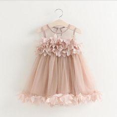 Girls Flower Petal Dress