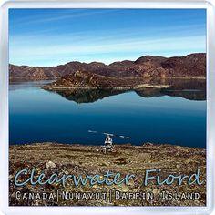 $3.29 - Acrylic Fridge Magnet: Canada. Nunavut. Baffin Island. Clearwater Fiord