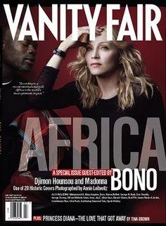 Madonna Djimon Hounsou Vanity Fair Magazine 7 07 Africa Mint | http://stores.ebay.com/madonnamaniamemorabilia