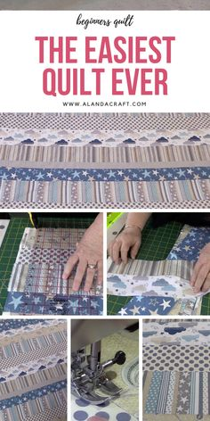 Our most popular quilting tutorial. This is such an easy quilt to make so it's perfect for a beginner. You could easily make this in a day.