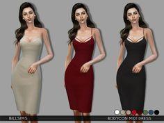 Bill Sims' Bodycon Midi Dress