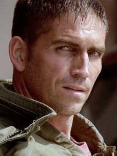 James Caviezel... Soooo bad...but still manages to look HOT!