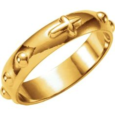 Rosary Ring in 14k Yellow Gold - Size 8 -- You can find more details by visiting the image link.