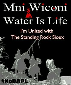 Water is life Hoka I Stand with Standing Rock Native American Wisdom, Native American History, American Indians, Native Quotes, Energy Resources, My Heritage, First Nations, Rock, Words
