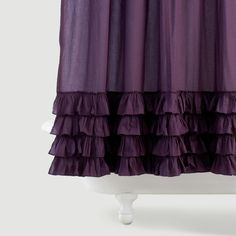 Olivia Ruffle Shower Curtain | World Market $29.99