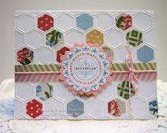 honeycomb embossing folder - Google Search