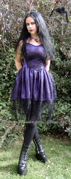 Spiderfairy Mini Dress by Moonmaiden Gothic Clothing UK