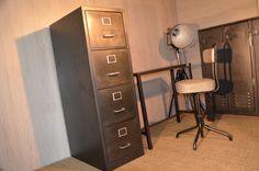 Classeur industriel ou porte documents métallique 4 tiroirs