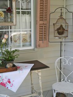 For the back porch.   I have a bird theme throughout my condo.  This is really cute.